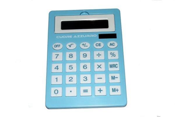 Calcolatrice cuore azzurro