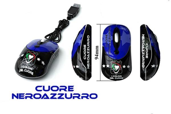 Mouse cuore Neroazzurro