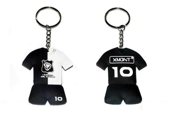 Portachiavi  t-shirt cuore Bianconero